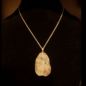 Handmade Clear Crystal 14k Gold Plated Necklace
